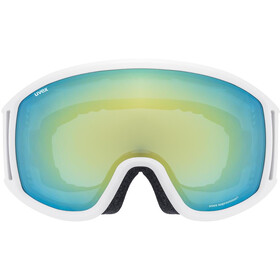 UVEX Topic FM sphere Goggles white mat/mirror orange